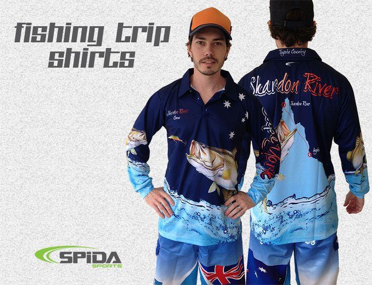 Make your next fishing trip memorable with Custom Fishing Shirts - http://www.spidasports.com.au/sublimated-fishing-shirts/