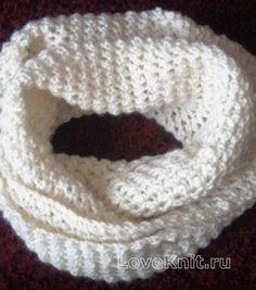Схема вязание крючком модели со схемами белый шарф снуд