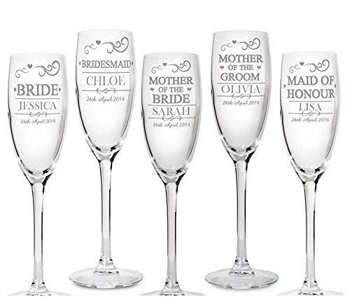 Personalise These Champagne Toasting Flutes With A Name To Ear In Uppercase Up 12 Characters And Date 20