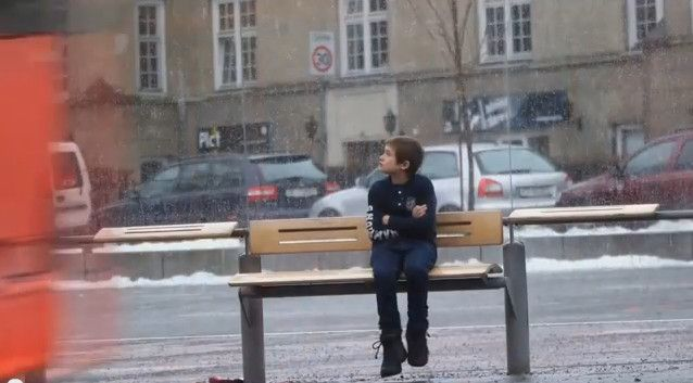 This Child Was Left To Freeze In The Street. What Happened Next Made My Day
