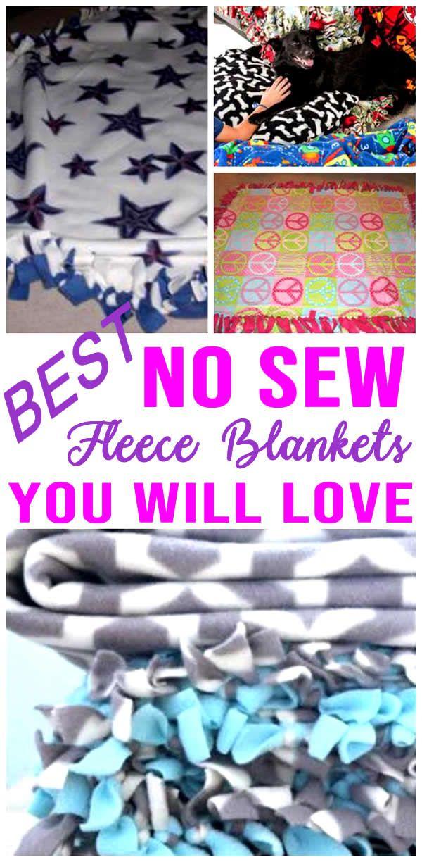 DIY No Sew Fleece Blankets  – DIY Crafts