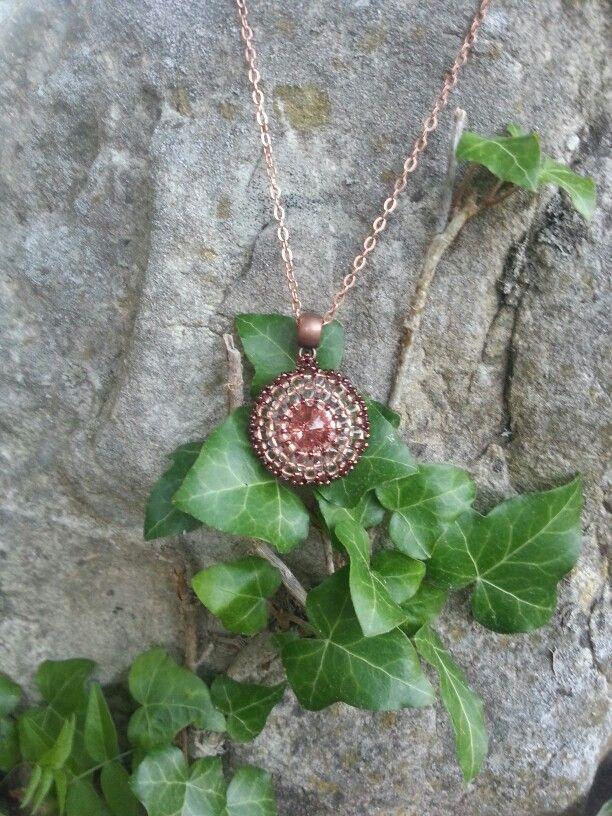 Rose gold pendant by Danieva
