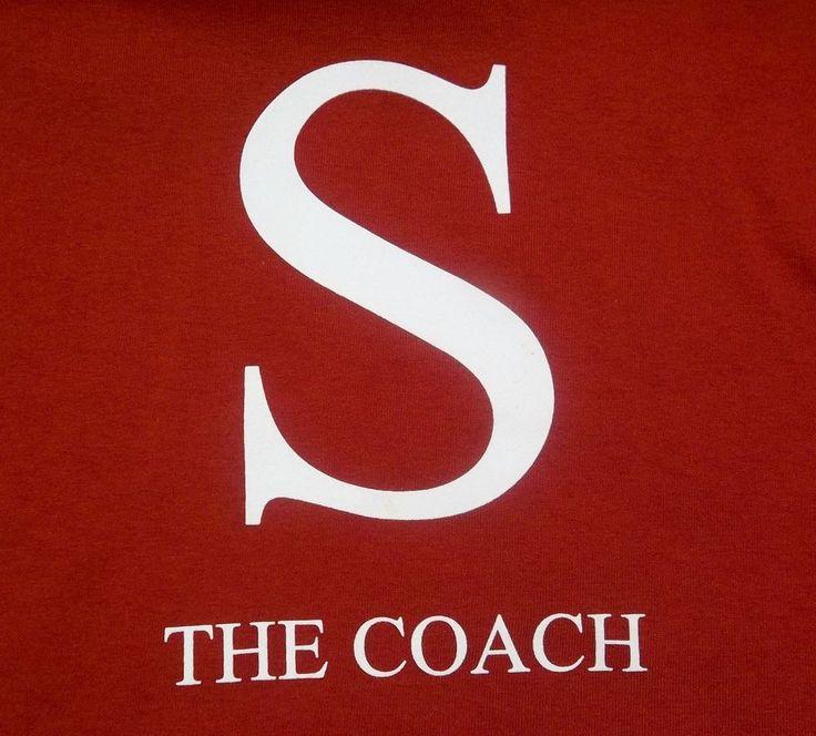 "University Of Alabama ""S"" the Coach T-Shirt Youth L Large Nick Saban #MVSport #AlabamaCrimsonTide"
