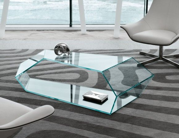italian glass furniture. Dekon 2 Italian Designer Glass Coffee Table Handmade In Transparent Furniture