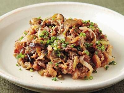 牛肉となすのみそ炒め レシピ 講師は笠原 将弘さん|使える料理レシピ集 みんなのきょうの料理 NHKエデュケーショナル