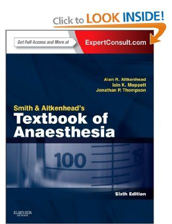 Smith and Aitkenhead's Textbook of Anesthesia