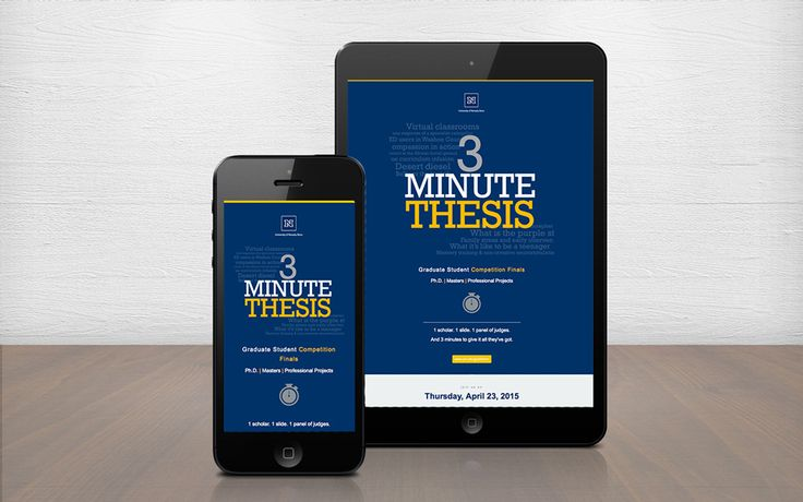 Responsive Email Design - 3 Minute thesis presentation at the University of Nevada, Reno HTML Emails