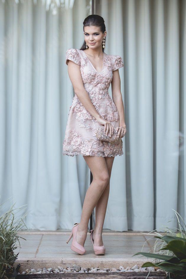 vestido curto de festa Patricia Bonaldi