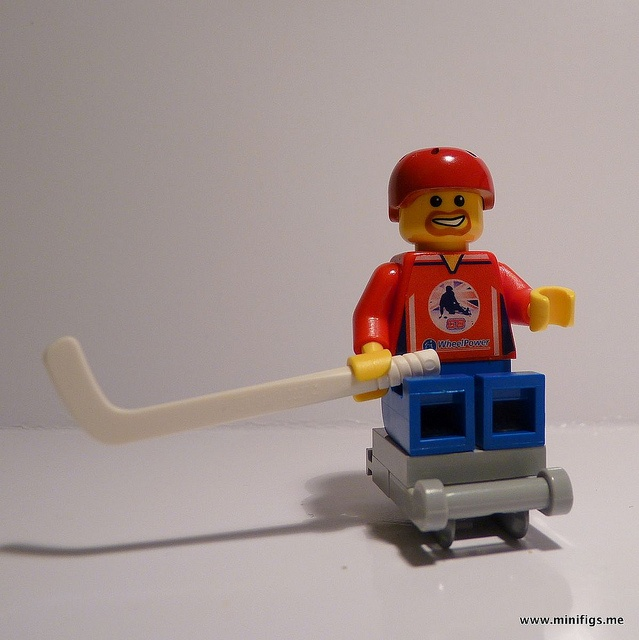 Lego Minifig Sled Hockey Player by Minifigs.me, via Flickr