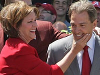Terri and Nick Saban - cute couple!!
