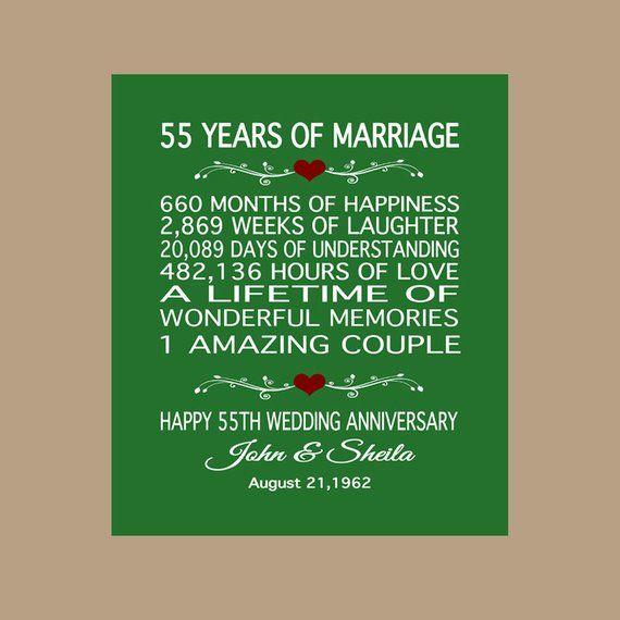55th Anniversary Gift 1965 Anniversary Gift 55 Years Anniversary