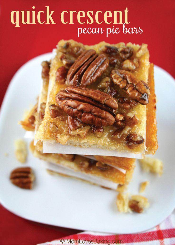 Quick Crescent Pecan Pie Bars --- was a Pillsbury Grand Prize winner