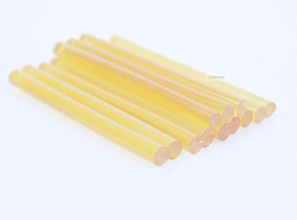 12pcs blonde color hair glue stick for U I V Flat tip keratin extension Brazilian Indian Hot melt styling tools adesivo