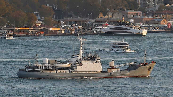 A Russian Navy reconnaissance ship has sunk after colliding with another vessel near the Bosporus, the Russian Defense Ministry reported.
