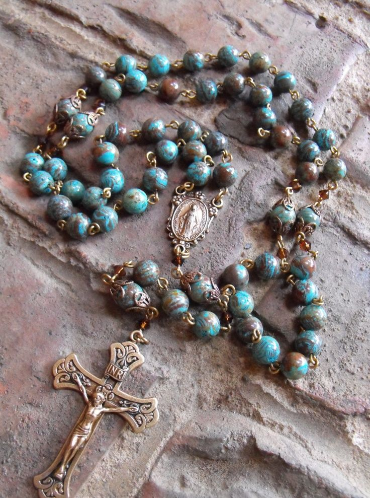 Cloisonne rosary. What a beautiful rosary!
