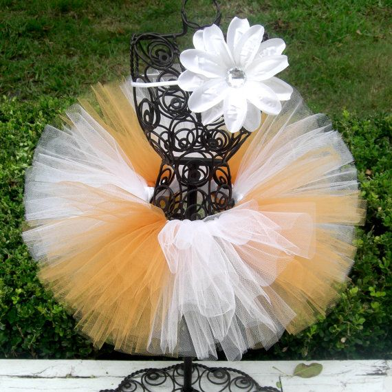 Georgia Tech Baby TUTU for Baby in White and Gold by TutuCaChu, $39.99