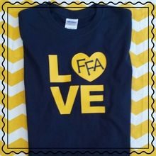 FFA pride!  This is a preshrunk Gildan tee.  Choose your colors for the shirt and the design.
