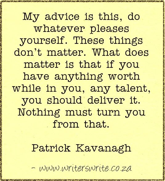 patrick kavanagh essay Patrick kavanagh critical essays – of patrick kavanagh) is one of kavanagh 39s most successful expressions of his parochial voice and is a representative nbsp patrick kavanagh kavanagh, patrick – essay – and criticism on patrick kavanagh – kavanagh, patrick.