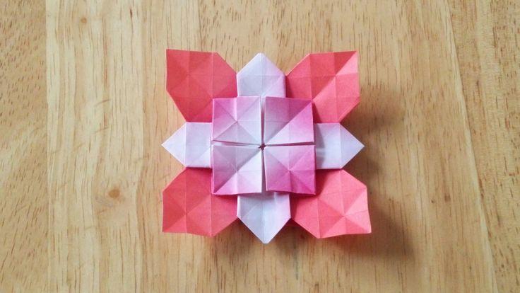 折り紙(おりがみ)・アジサイの折り方(B)