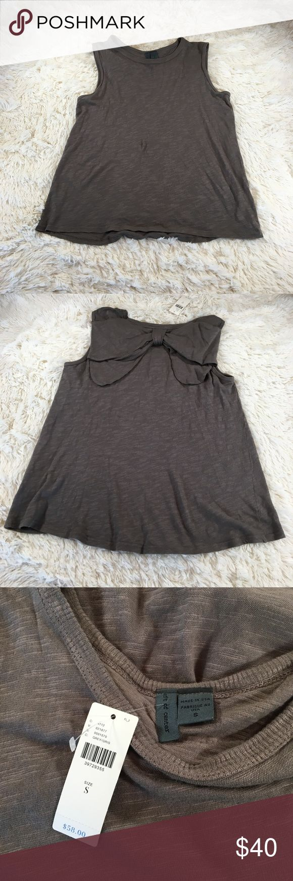 NWT Anthropologie Left of Center Bow Back Tank NWT Anthropologie Left of Center Bow Back Tank Size: small Color: Brown   393/10 Anthropologie Tops Tank Tops