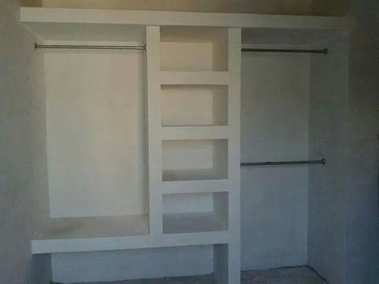 Closet tablaroca decoracion paredes pinterest closet for Closet de cemento modelos