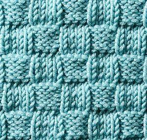 ściegi na drutach - koszyk