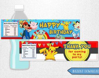 Pokemon bag toppers Pokemon favor bags door InstantBrightParty