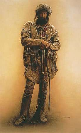 lee bogle mountain men | Mountain Man With Rifle art print by James Bama