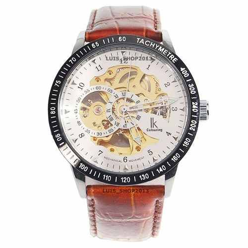 relógio automático masculino - luxo - ik colouring skeleton