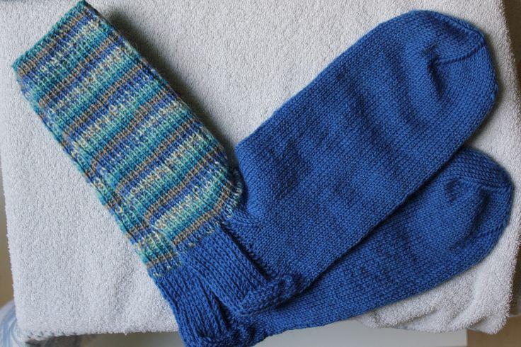 Weiteres - Handgestrickte Socken Gr. 44/45 einfach - ein Designerstück von bastelmaus19 bei DaWanda