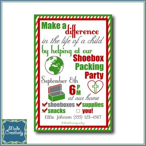 174 best Operation Christmas Child Party images on Pinterest