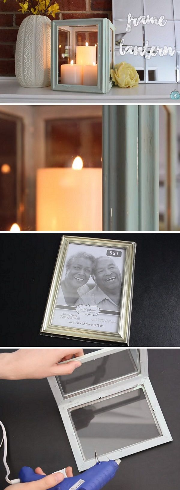 Check out the tutorial on how to make a #DIY lantern from picture frames #homedecor #dollarstore @istandarddesign