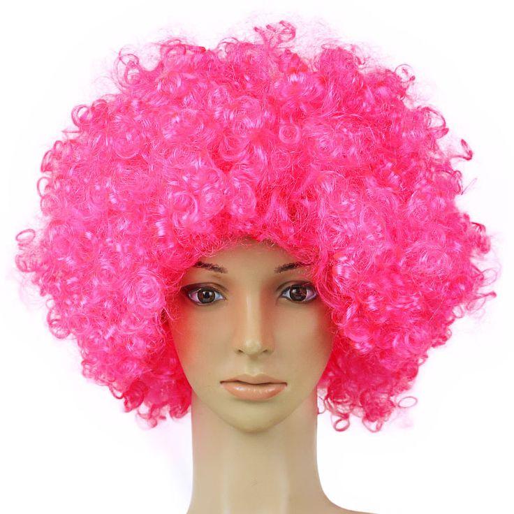 Hot Popcorn Fluffy Wig Fancy Dress Curls Wig Party Hats for Halloween Festival Cosplay Props Pink Purple 165Gram