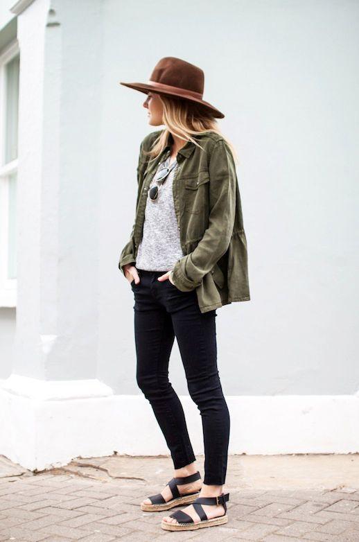 3 Le Fashion Blog 15 Ways To Wear A Green Army Jacket Hat Grey Tee Black Jeans Espadrilles Via Fashion Me Now photo 3-Le-Fashion-Blog-15-Ways-To-Wear-A-Green-Army-Jacket-Hat-Grey-Tee-Black-Jeans-Espadrilles-Via-Fashion-Me-Now.png