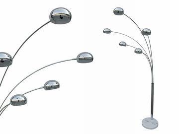 Weba - 73€ - Staande lamp In metaal en witte marmer L 115 x H 208 cm