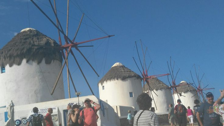 Mykonos town. Windmills