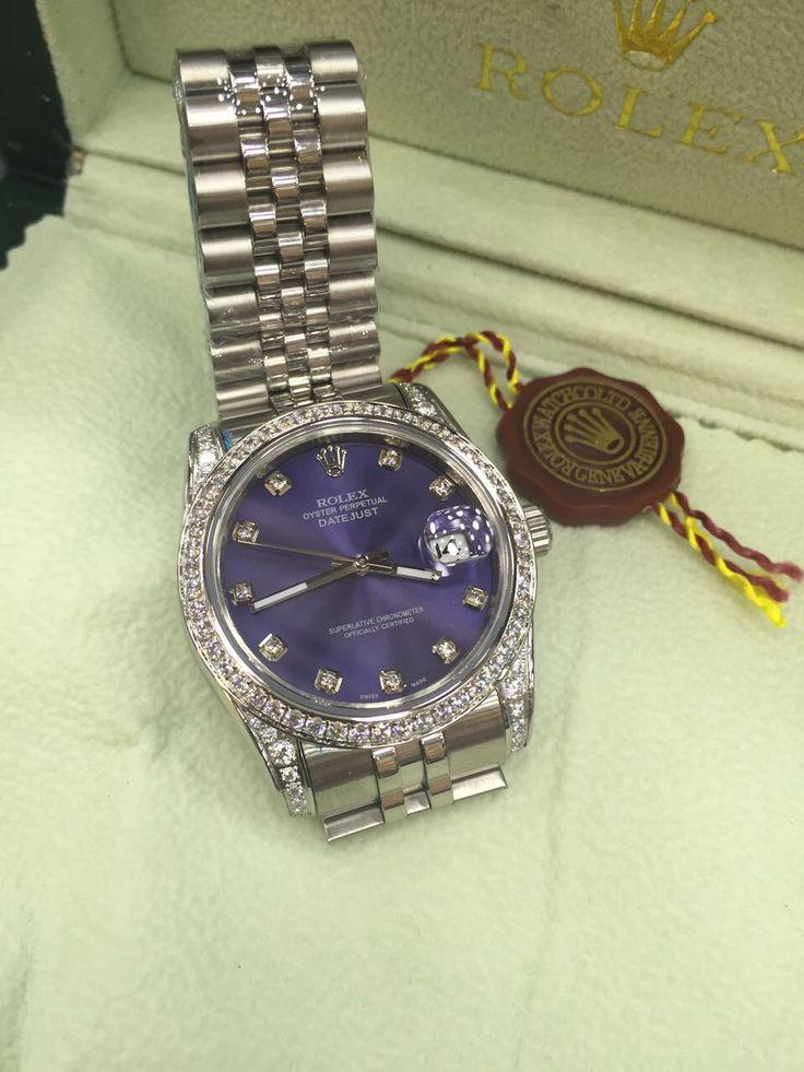 Rolex Feminino Datejust Azul Brilhante  Raridade