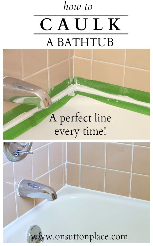 Instructions for how to caulk a bathtub that are easy to follow and result in a neat and straight caulk line every time!