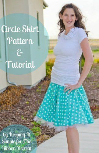 Learn how to make a cute circle skirt with pleats and a tulle slip