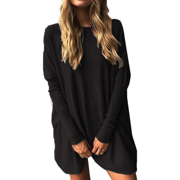 Autumn Womens Round Neck Long Sleeve Loose Jumper Long Shirt Ladies Casual Solid Blouse Pullover Tops Blusas S XL-in Blouses & Shirts from Women's Clothing & Accessories on Aliexpress.com | Alibaba Group
