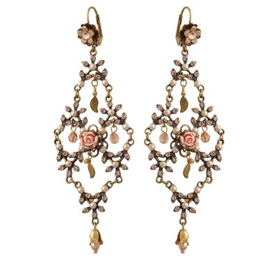 Setty Gallery - Michal Negrin Jewelry Crystal Rose Hook Bride Earrings, $190 (http://www.settygallery.com/michal-negrin/michal-negrin-jewelry-crystal-rose-hook-bride-earrings/)