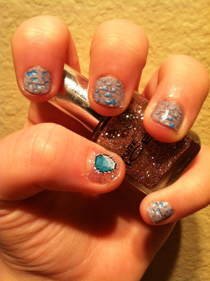 1000+ Ideas About Minecraft Nails On Pinterest