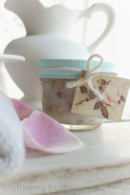 Craftberry Bush: Coconut Rose scrub and a smile on my face....