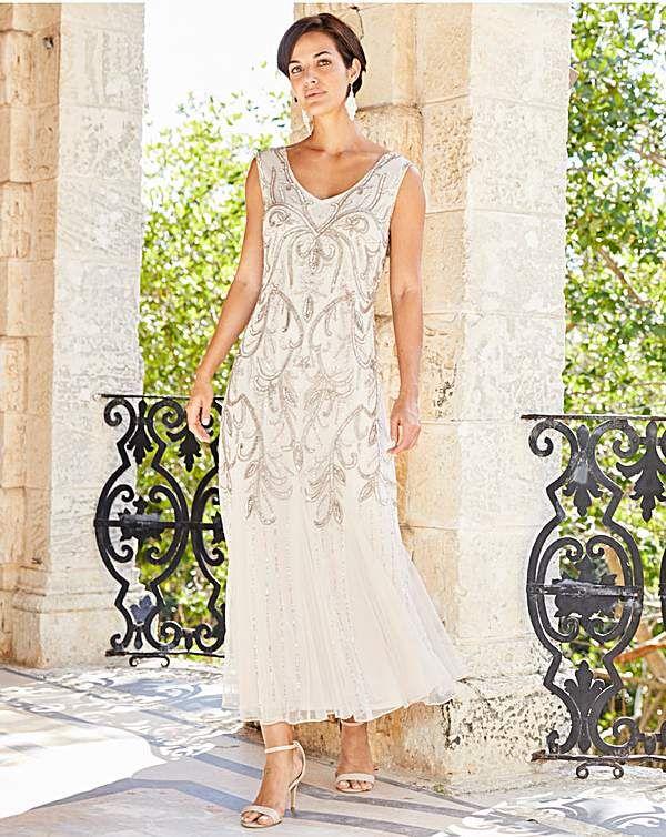 Joanna Hope Beaded Maxi Dress Older Bride Wedding Dress Mother Of Groom Dresses Mother Wedding Dress