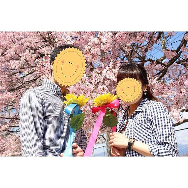 【os.wedding】さんのInstagramをピンしています。 《これもセルフ。 ちょうど桜が満開だった近くの公園で。 やっぱり春の結婚式だから桜の下で撮りたいとは思っていたけどこんなに晴天に恵まれるなんて奇跡でした! 色んなポーズを撮ったけどこれが良い顔してたのでトイレのアメニティと一緒にこの写真を飾りました♡ プロフィールムービーにも入れたかったけど使いたい写真がたくさんありすぎて入れきれませんでした… 手に持ってるのはリングピローです(^O^) #結婚式 #セルフ前撮り #前撮り #桜 #春 #プレ花嫁 #チェックシャツ #リングピロー #二次会 #ウェディング #ブライダル》