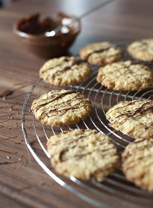 Biscuits suédois aux flocons d'avoine et chocolat, façon Chokladflarn - recette de cuisine