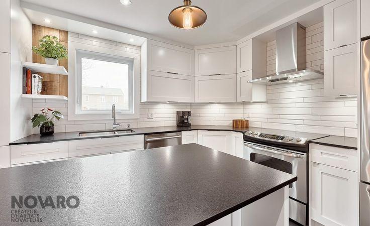 Armoires de cuisine - Oligny - Armoires de cuisines Québec | Clé en main | Novaro