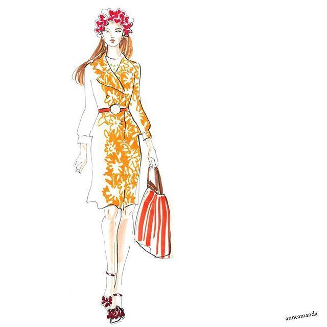Miu Miu ss 17 florals #miumiu #miumiudress #fashionillustration #copicart #copicsketch #copics #artfashioninspiration #fashionillustrations #fashionsketches #fashiondrawing #fashionart #springfashion #floralfashion