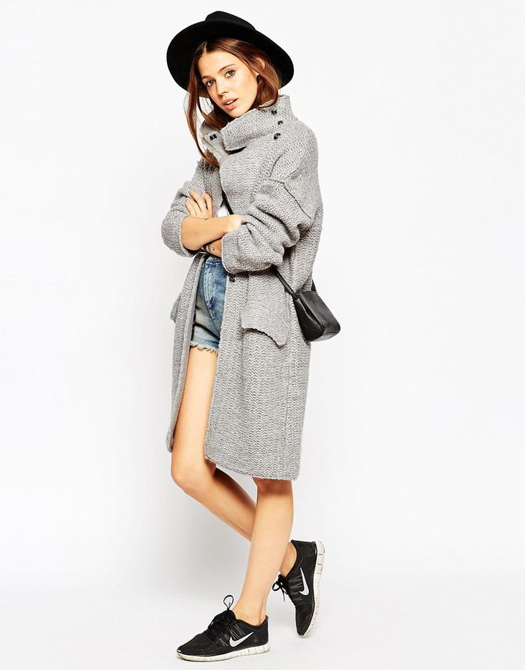 Изображение 4 из Трикотажное пальто из крученой нити ASOS Premium
