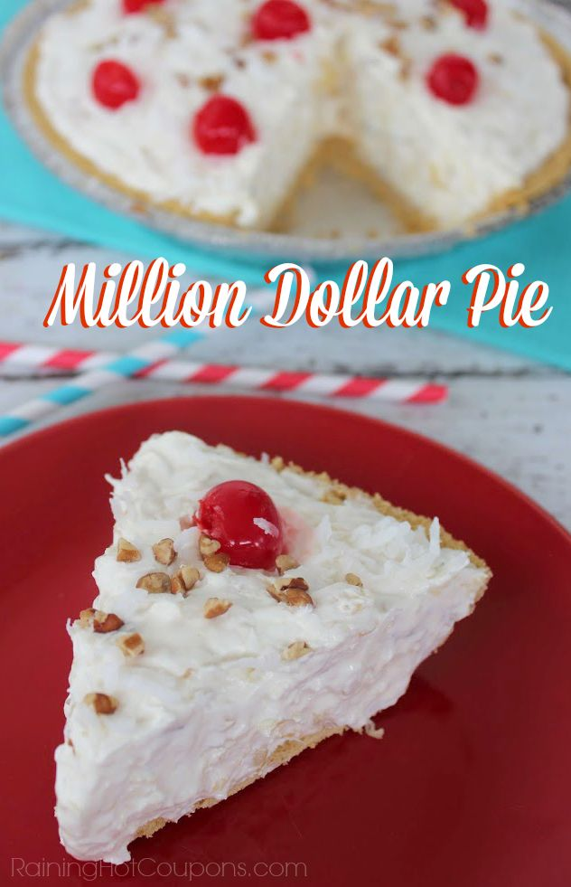 Million Dollar Pie.  This recipe sounds so much like the ambrosia salad my great grandma always made...minus the mandarin oranges.  As a pie, this sounds like happy memories :-)